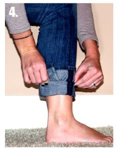 How to tuck flared jeans into jeans! http://www.sheknows.com/beauty-and-style/articles/977647/how-to-tuck-non-skinny-jeans-into-boots