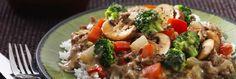 Broccoli Vegetable Teriyaki Tofu Stir-Fry with Cashews (vegan and gluten free) Broccoli Tofu, Mushroom Broccoli, Fresh Broccoli, Brocolli Rice, Cashew Recipes, Stir Fry Recipes, Beef Recipes, Whole Food Recipes, Whole Foods