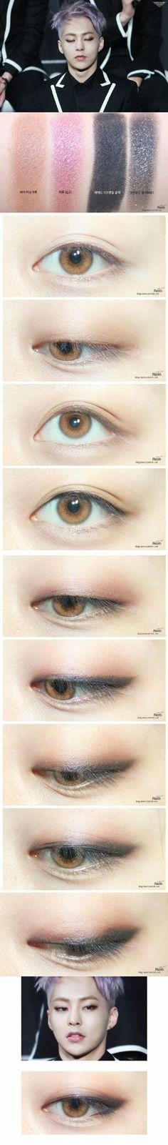 EXO Xiumin eye make up tutorial (cr.sh_rvd)