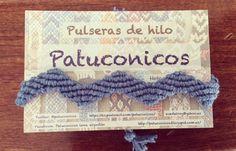 Pulsera Patuconicos modelo Zic zac ancha Hecha a mano en España precio: 4€ cada una. (gastos de envio no incluidos)
