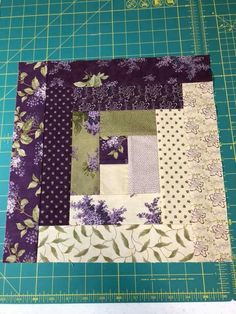 Floral quilt TOP Olive's Flower Market fabric by Moda UNFINISHED - 38 inch / Lella Boutique / bedding, nursery quilt, patchwork, floral DIYTwin Bed Sets With Comforter Refferal: for a t-shirt quilt? Mini Quilts, Jellyroll Quilts, Strip Quilts, Easy Quilts, Log Cabin Quilts, Log Cabin Quilt Pattern, Log Cabin Patchwork, Log Cabins, Patch Quilt