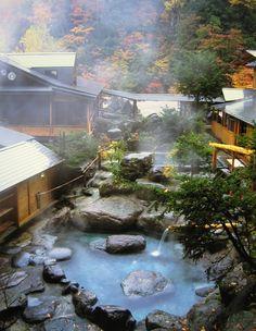 Zen, wisdom &c в 2019 г. Hot Springs Japan, Japanese Hot Springs, Japan Garden, Japanese Architecture, Japanese House, Pool Designs, Land Scape, Places To Go, Beautiful Places