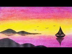 Pastel Boya Ile Kolay Manzara Resmi Nasil Cizilir Easy Pastel Paint Drawing Youtube 2020