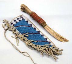 Native American Plains Indian Bone Knife