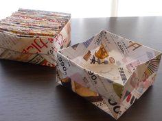 今日は 以前紹介したチラシの紙箱の作り方を紹介します   紹介するのは お休みの日がいいかな~って 今朝 記事を取り込んだのですが ナント! 今...
