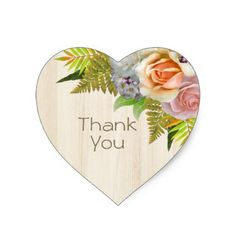 Rustic Country Barn Wood Floral Wedding Thank You Heart Sticker You Are Welcome Images, Thank You Images, Happy Birthday Wishes Cards, Birthday Thank You, Thank You Greetings, Good Morning Greetings, Thank You Messages Gratitude, Thank U Message, Thanks Gif