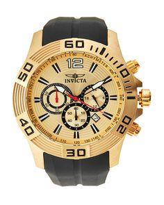 Invicta 20302 Gold-Tone & Black Pro Diver Watch