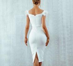 Classy White Dress, White Tank Dress, White Dress Outfit, Trendy Dresses, Tight Dresses, Sexy Dresses, Beautiful Dresses, Evening Dresses, Classy Outfits