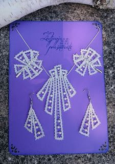 wedding, poroka, nakit iz čipke, lace jewelry, poročni nakit, lace earrings, lace brooch, necklace, Bobbin Lace Patterns, Bead Loom Patterns, Jewelry Patterns, Jewelry Ideas, Hairpin Lace Crochet, Crochet Motif, Crochet Shawl, Crochet Edgings, Lace Earrings