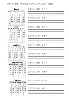 Do check your 2013 availability!