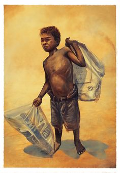 Exploitation of children_illustration main causes of child labour. The increasing gap between the rich and the poor