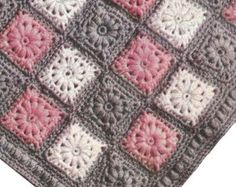 INSTANT DOWNLOAD 1950's Baby Carriage Robe in Puff Stitch Vintage Crochet Pattern PDF 423