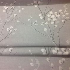 Laura Ashley Made To Measure Roman Blind In Pussy Willow Steel Fabric