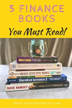 5 Best Personal Finance Books - Frozen Pennies - Finance tips, saving money, budgeting planner Book Club Books, Book Lists, Good Books, Books To Read, Free Books, Finance Books, Finance Tips, Finance Quotes, Faire Son Budget