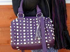 Purple studded handbag from #Marshalls