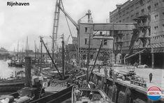 Rijnhaven Rotterdam (jaartal: 1930 tot 1940) - Foto's SERC Rotterdam, Back In Time, Old City, Holland, Street View, Travel, Cities, Historia, Historical Photos