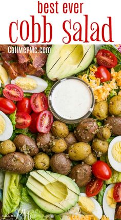 Four Kitchen Decorating Suggestions Which Can Be Cheap And Simple To Carry Out Best Cobb Salad With Buttermilk Garlic Dressing Call Me Pmc Spinach Salad Recipes, Best Salad Recipes, Salad Dressing Recipes, Chicken Salad Recipes, Broccoli Recipes, Easy Summer Salads, Easy Salads, Main Dish Salads, Dinner Salads