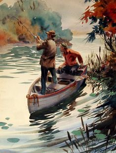 """Fisherman"" by John Pike - Art Painting Watercolor Water, Watercolor Artists, Watercolor Portraits, Watercolor Landscape, Watercolor Paintings, Watercolours, Watercolor Architecture, Fishing Pictures, Fish Art"