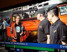 That moment when you see a familiar face on TV! Fred get out of the way   #ProjectAscender #JcrOffroad #SEMA2016 - https://jcr.us/1Xn1wug