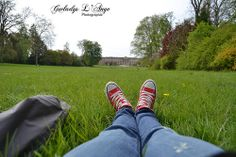 Red shoes in the Park Imperial Palace of Compiègne #redshoes