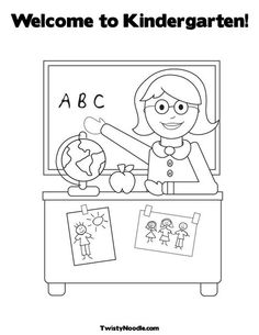 welcome to kindergarten coloring page - 1000 images about school memory book on pinterest