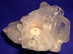 Quartz candle holder