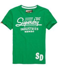 Superdry 300 T-shirt in Drop Kick Green