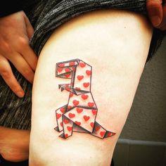 Knitting Tattoo, Origami Tattoo, Dinosaur Tattoos, Old School, Tattoo Ideas, Club, Ink, Board, Instagram