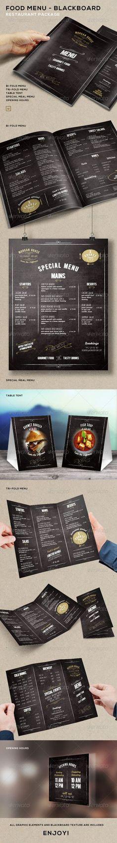Food Menu - BlackBoard Restaurant Package: