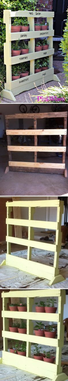 DIY Wood Pallet Herb Garden. Someone build this for me please!
