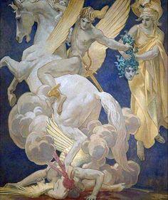 Perseus on Pegasus Slaying Medusa, John Singer Sargent
