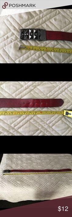 Betsy Johnson reversible red/black metal belt Fun! betsy johnson Accessories Belts