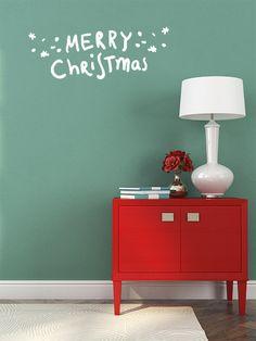 Frase de Vinilo Merry Christmas, decorar estas navidades es muy fácil.