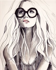 #art #fashion #illustration Anna Hammer... Combination of nerd and sexy