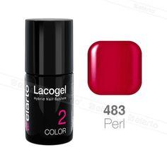 Lakier hybrydowy Lacogel nr 483 - czerwony perła 7ml #lacogel #elarto #czerwony #perła