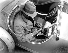 Reporter crafting a story. Could this be what inspired Sammy to go into journalism? Electric Field, Remote Viewing, Newspaper Headlines, Old And New, Communication, Writer, Cyprus, Authors, Photographs
