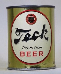 Tech Premium , Pittburgh PA ~ 8oz / F.T Beer Can Collection, Old Beer Cans, Premium Beer, Beer Brands, Best Beer, Craft Beer, Whisky, Beer Bottle, Gin