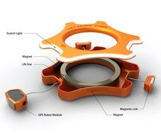 Tube is a rescue tube with magnetic properties and aims to form a floating cluster, bringing people together via GPS.
