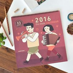 Buy BABOSARANG 'Du-dum' Series 2016 Wall Calendar (L) at YesStyle.com! Quality products at remarkable prices. FREE WORLDWIDE SHIPPING on orders over €34.