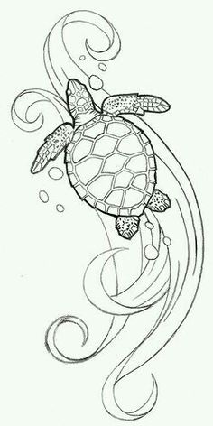 Sea Turtle Pattern Coloring Page