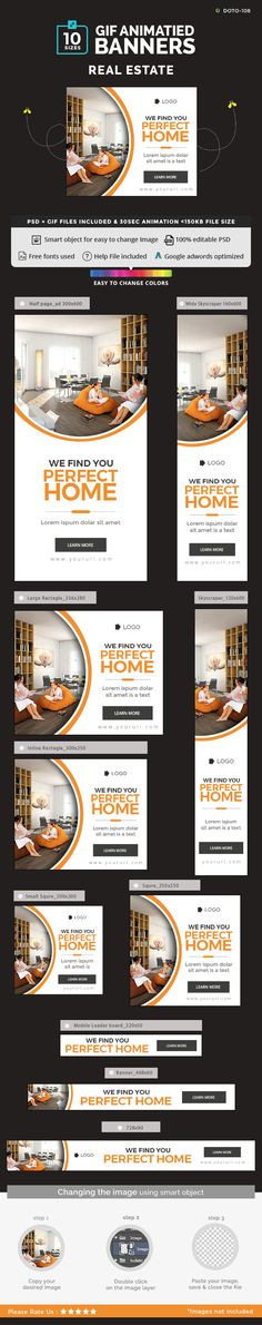 #real #estate #property #animated #gif #banner #template #design. download: https://graphicriver.net/item/real-estate-animated-gif-banner-set/20280196?ref=yinkira