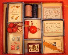 German Spear Magic Set-circa 1930s-All tricks, Instructions-Box restored-v.FINE