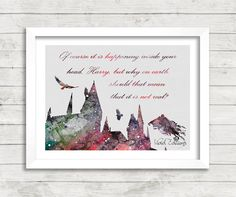 Harry Potter Hogwarts Watercolor Art Poster Print 2 by VIVIDEDITIONS