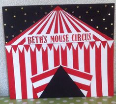 Box lid for mouse circus aunty Roz 2015