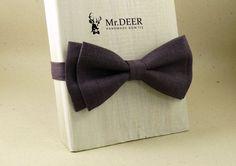 Dark Purple Violet Bow Tie  Ready Tied Bow Tie  by MrDEERbowtie