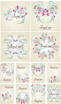 Free Floral Frames Vector Clip Art
