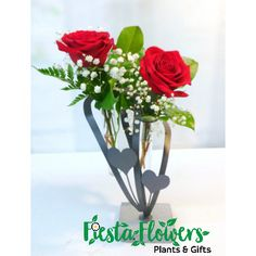 Two hearts forever intertwined is symbolized by these two intertwining roses. It makes a wonderful Valentine's day gift!