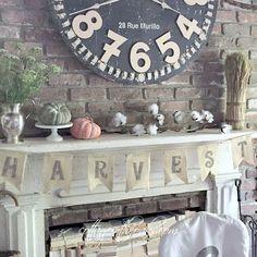 "Autumn Mantel Ideas… or should we call it ""Pumpkin Spice Mantel"" ….. =)  #autumn #fall"