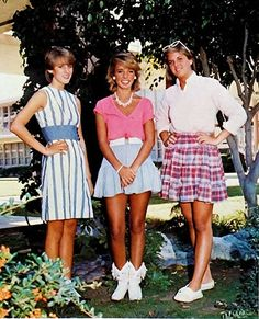 80s fashion~ the girl in the middle was totally me in college!  boots and all
