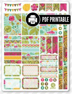 Aloha Dekoration Kit PDF druckbare Planner von PlannerPenny auf Etsy